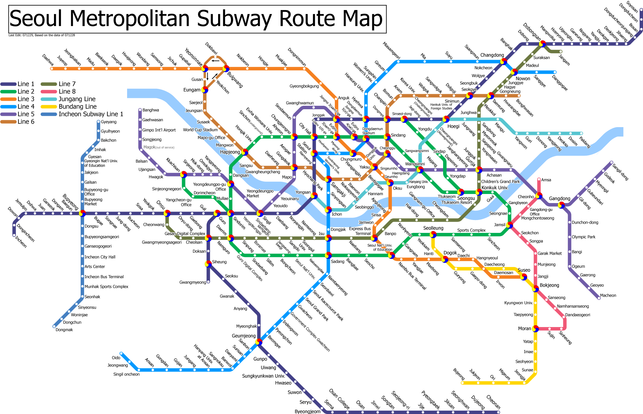 Detail Seoul South Korea Subway Map | Seoul Weather and ... |Subway South Korea